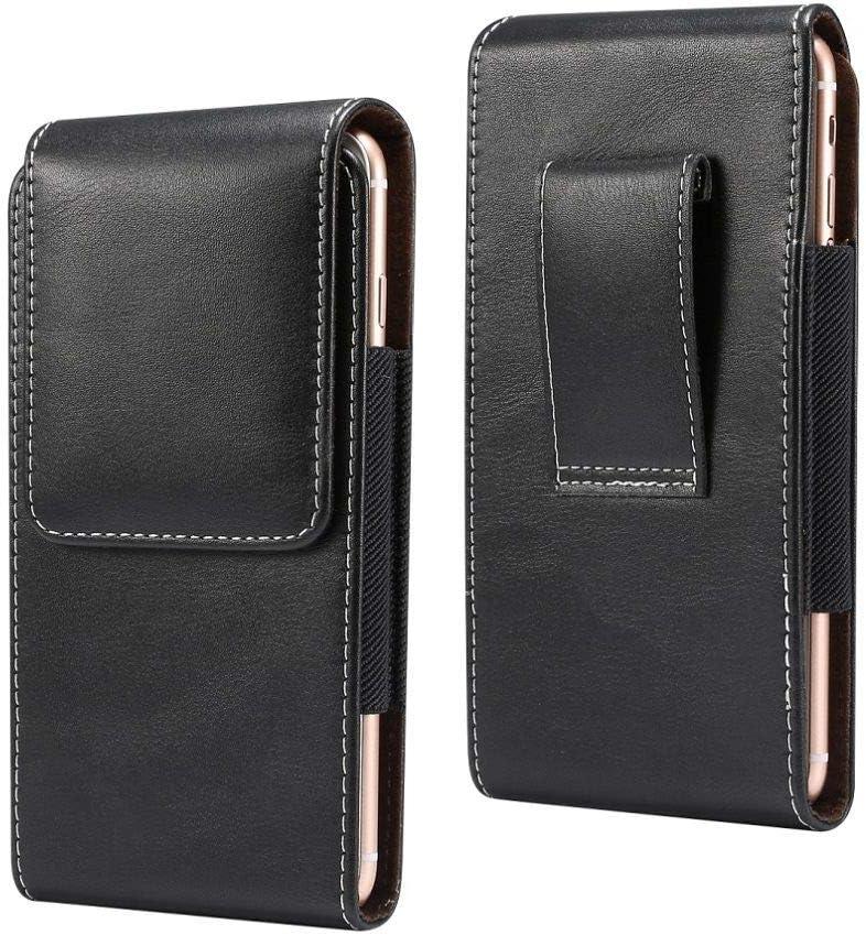 DFV mobile - Vertical Leather Holster with Belt Loop for Xiaomi Mi4 LTE, Mi 4 LTE - Black