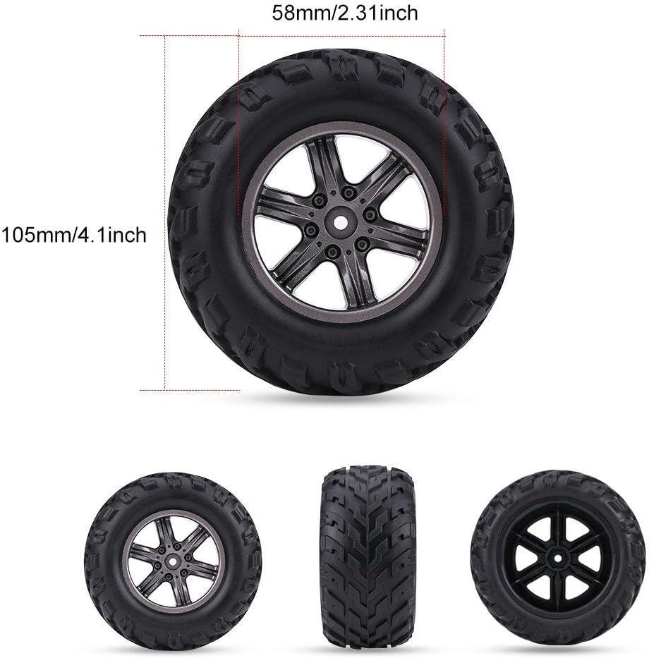 Dilwe 2 Stück Tpr Reifen Reifen Und Naben Felgen Für 1 12 Rc Auto Lkw Crawler Spielzeug