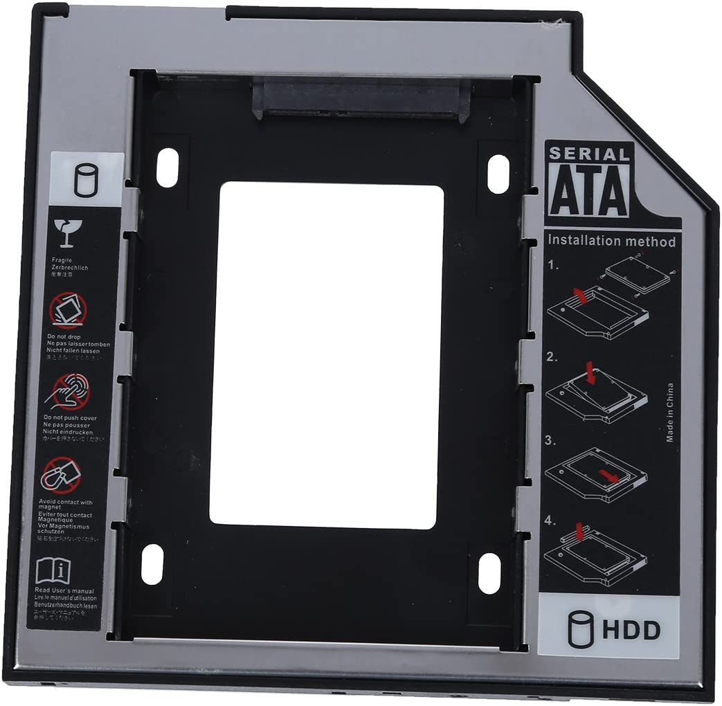 Caddy de disco duro - TOOGOO(R)12.7 mm SATA a SATA segunda Caddy ...