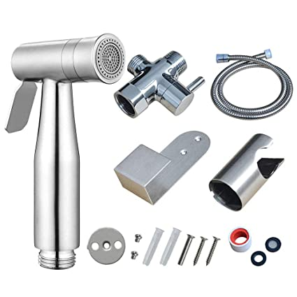 Magnificent Handheld Bidet Toilet Sprayer Set With Dual Mode Spray Head Jet Soft Premium Brushed Stainless Steel Sprayer For Bidet Attachment Baby Cloth Diaper Pabps2019 Chair Design Images Pabps2019Com