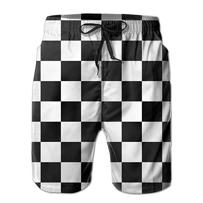 0b29e7571289c Image Unavailable. Image not available for. Color: Checkerboard Mens Quick  Dry Swim Trunks Athletic Beach ...