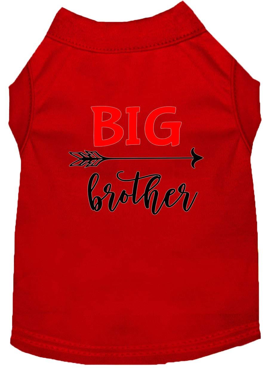 Big Brother Screen Print Dog Shirt Red Lg Mirage