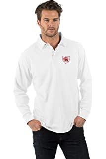 31252433c55 Bruntwood White Long Sleeve Rugby Shirt - XS to 2XL, England Six Nations