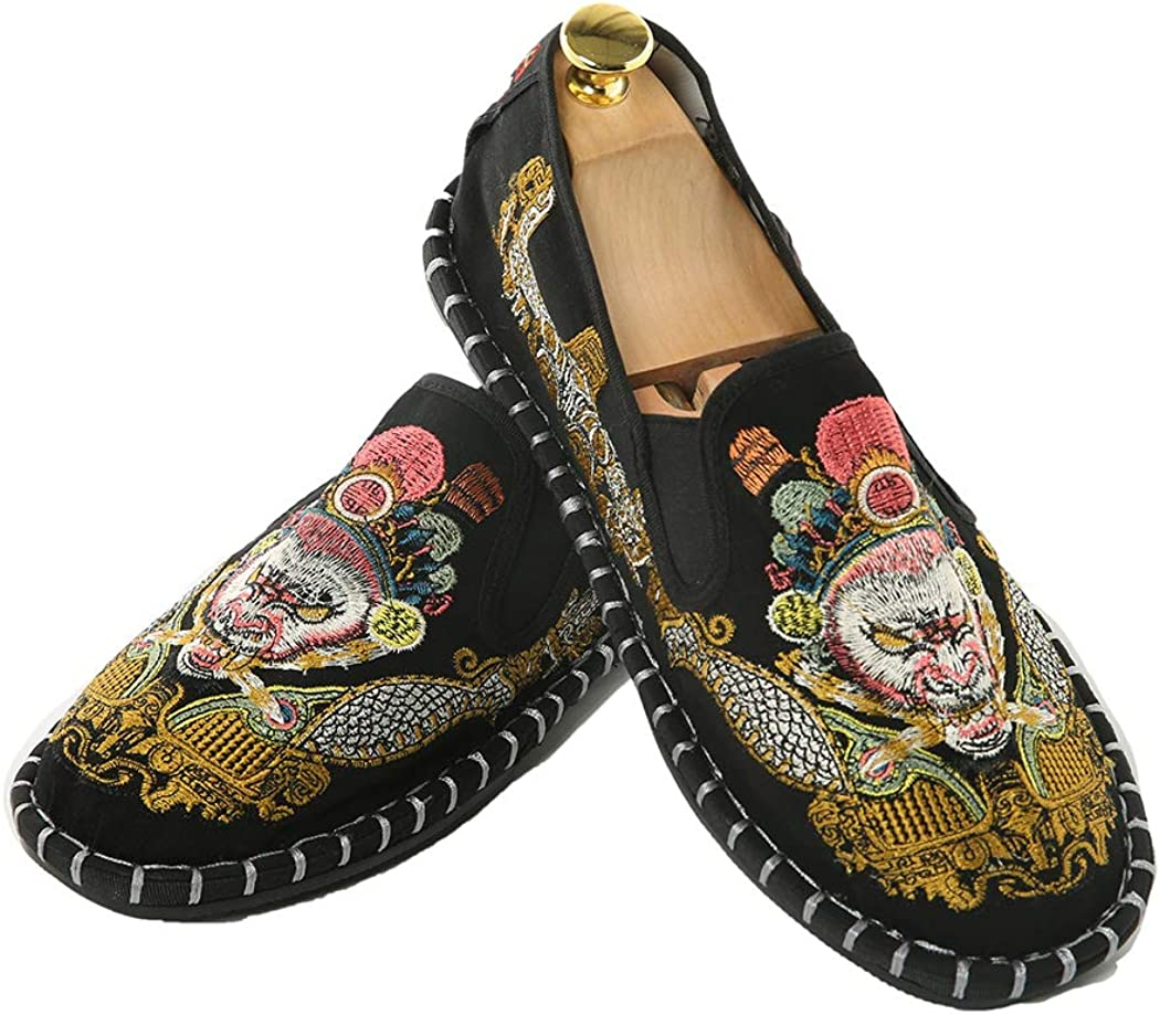 Men/'s Handmade Vintage Slip on Loafers and Non-Slip Comfortable Casual Shoes