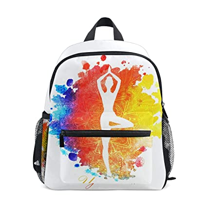 DOSHINE Mochila para niños, Arte Abstracto, Yoga, Mandala ...