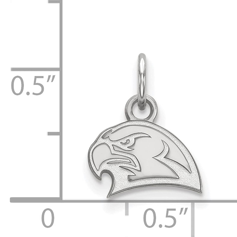 925 Sterling Silver Rhodium-plated Laser-cut Miami University XS Pendant