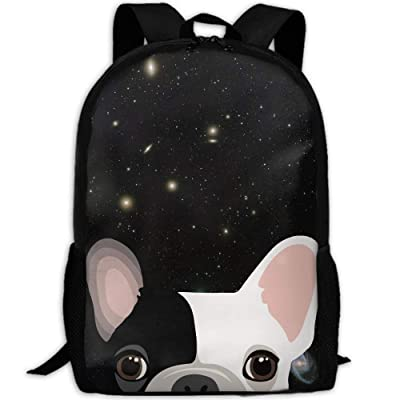 Cute-French-Bulldog-Print Interest Print Custom Unique Casual Backpack School Bag Travel Daypack Gift: Toys & Games