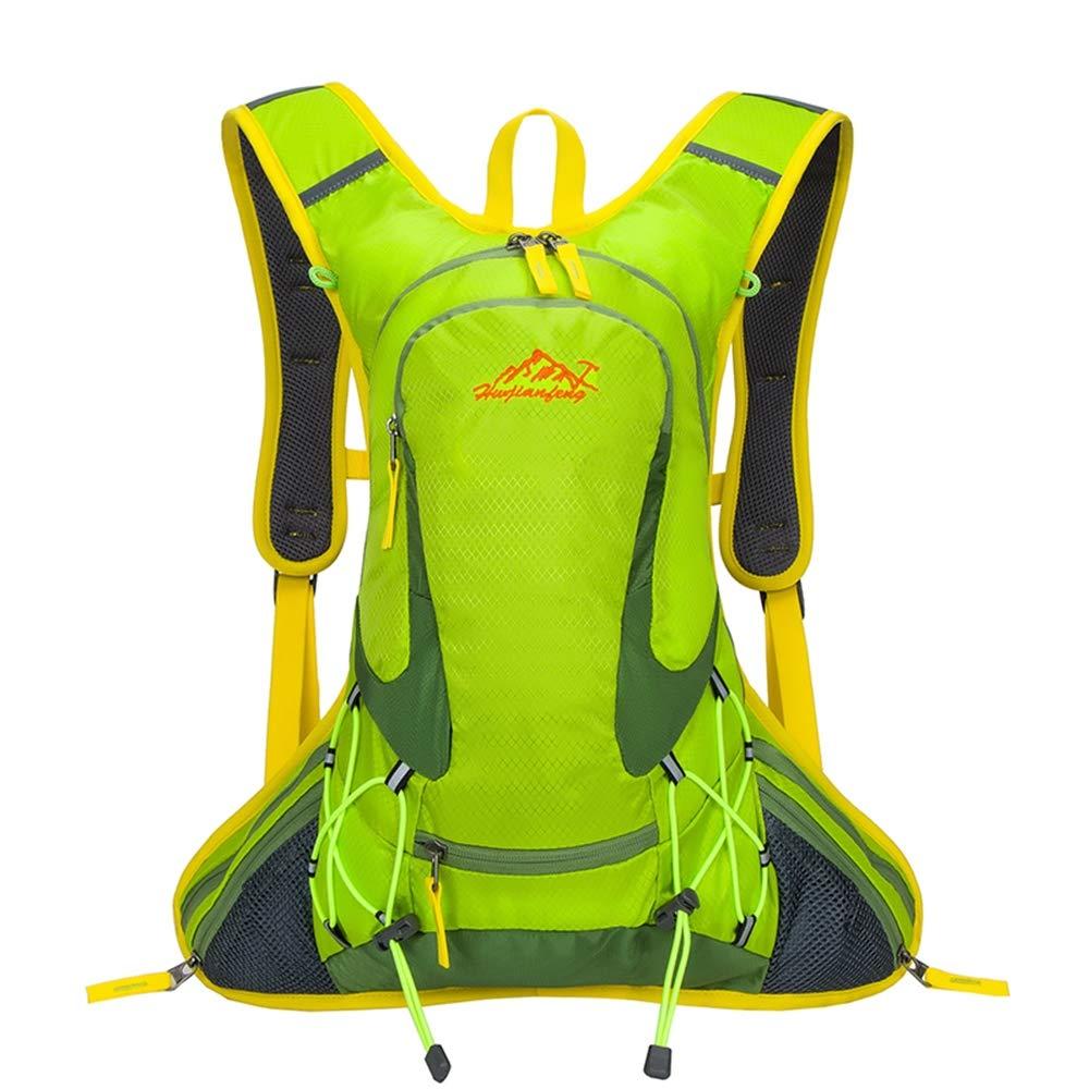 Sunzy Outdoor-Reittasche, Multifunktions-Helm-Netz-Rucksack, Fahrradfahrtasche 18L,Grün