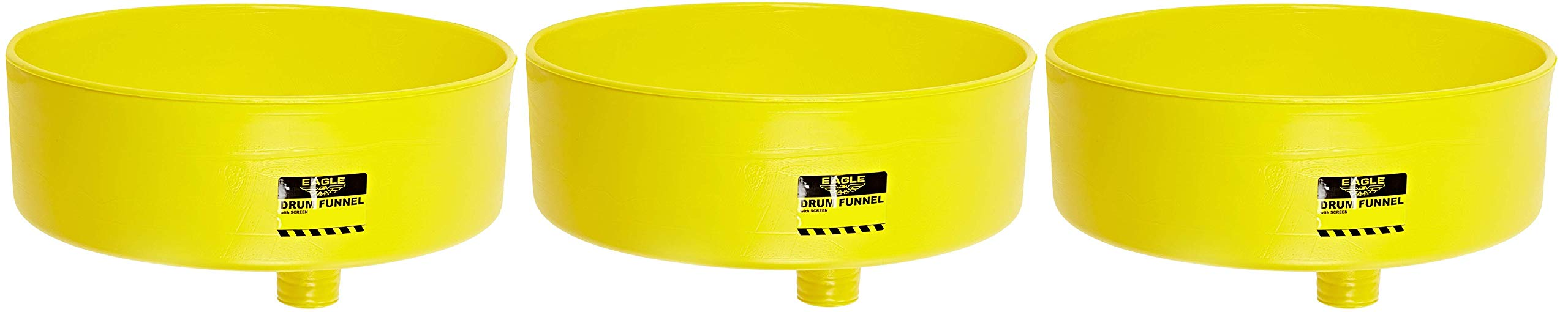 Eagle 1662 Drum Funnel with Brass Screen, 18'' Diameter x 7'' Height (Pack of 3)
