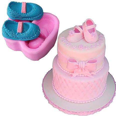 Amazon.com: anyana Zapatos de bebé silicona Fondant Mold ...