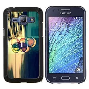 "Be-Star Único Patrón Plástico Duro Fundas Cover Cubre Hard Case Cover Para Samsung Galaxy J1 / J100 ( Sonrisa Cita Vida Positiva actitud Motivación"" )"