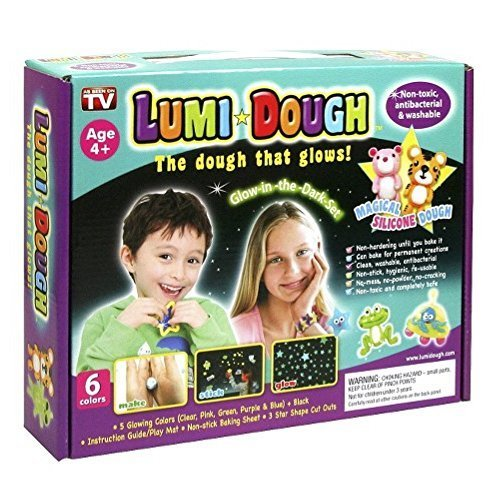 Glow Dough (Lumi Dough - The Magical Silicone Doh That Glows In The Dark, Non-Toxic Play by LUMI DOUGH)
