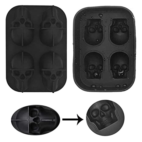 ZN&Z® Molde de Silicona 3D para Tartas, Cubitos de Hielo, 2 Piezas,