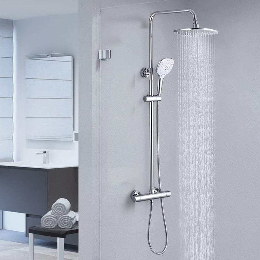 set de douche raccord de douche set de douche BONADE syst/ème de douche thermostat douche de pluie colonne de douche en acier inoxydable avec pomme de douche pluie tige de douche r/églable