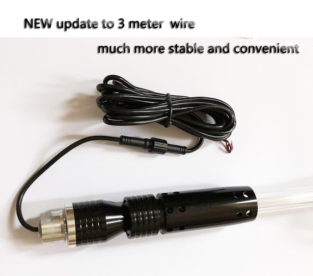 Road ATV Utv Atv Whips 4FT Orange LightBuddy LED Whip Fiber Optic Quick Disconnect Off