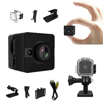Mini cámara - Bysameyee cámara de acción de cam ocultada 1080p HD espía con detección de movimiento de visión nocturna, mini DV DVR inalámbrico para ...