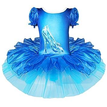 feeshow Chica Disfraz vestido Ballet vestido Camiseta Leotard ...