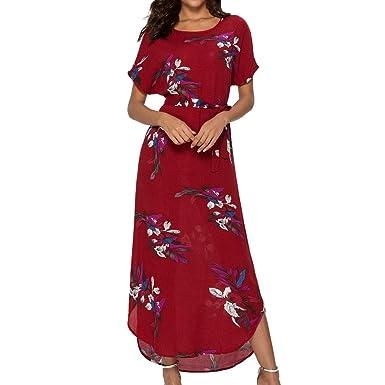 e92169066c girlove ❤* Women Long Sleeve Dress Ladies V-Neck Plus Size Lace Solid Lace
