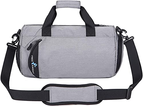 Waterproof Sports Gym Bag with Shoes Compartment Travel Duffel Bag for Men and Women,Fitness Yoga Training Bag 30L Light Gray, Large