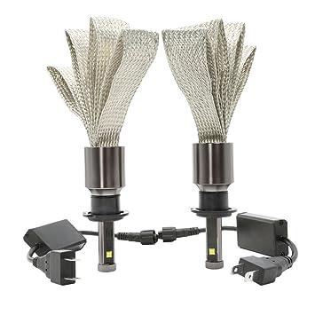 NATIONALMATER 4S H7 LED Headlight Bombilla Faro, 30w LED Faro, 2800LM 6000K Lámpara Blanca Brillante para el Coche / Van / Camiones / Vehículos: Amazon.es: ...
