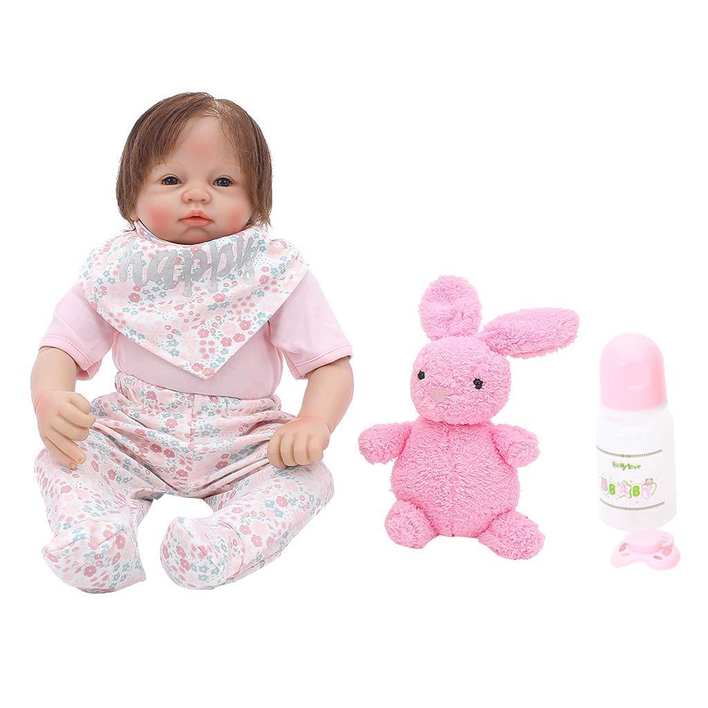 KESOTO Adorable Reborn Infantil Muñecas de Silicona Newborn Americana - 21 Pulgadas - F