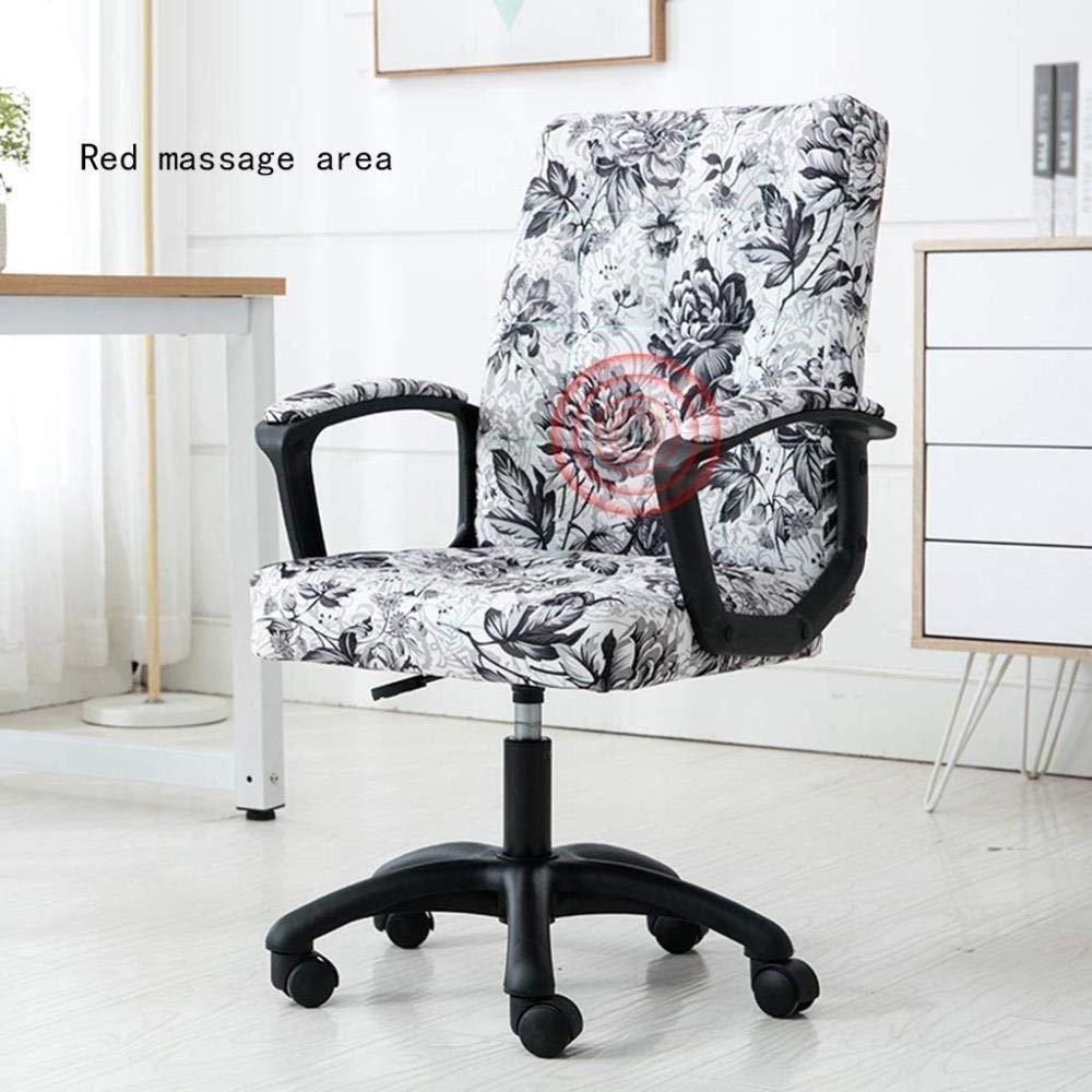 Kontorsstol stabil datorstol hem bekväm lyft svängstol ergonomisk stol sovsal stol hållbar (färg: A) a