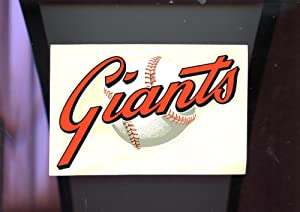 Vintage HYA LAC San Francisco Giants Baseball Window Signs Decal Sticker 1970 V2