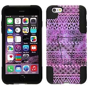 Trek Hybrid Stand Case for Apple iPhone 6 - Aztec Andes Purple Tribal on Nebula
