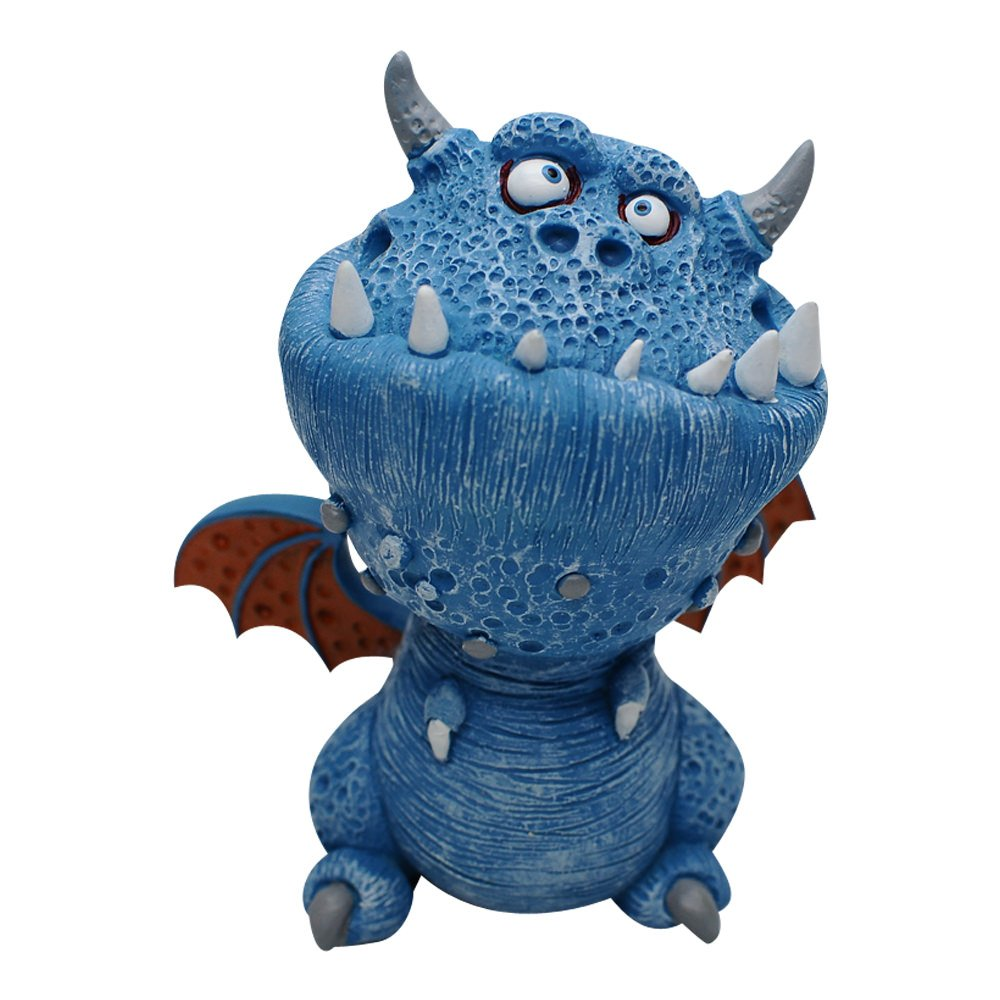 Blue Comfy Hour Buzhandmade 4 Collectible Cartoon Mini Statue Gift Dragon Figurine Cute Decorative Sculpture Licensed by Artist