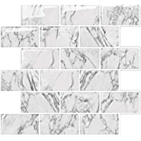 STICKGOO Subway Tiles Peel and Stick, Stick on Backsplash (Pack of 6, Thicker Design)