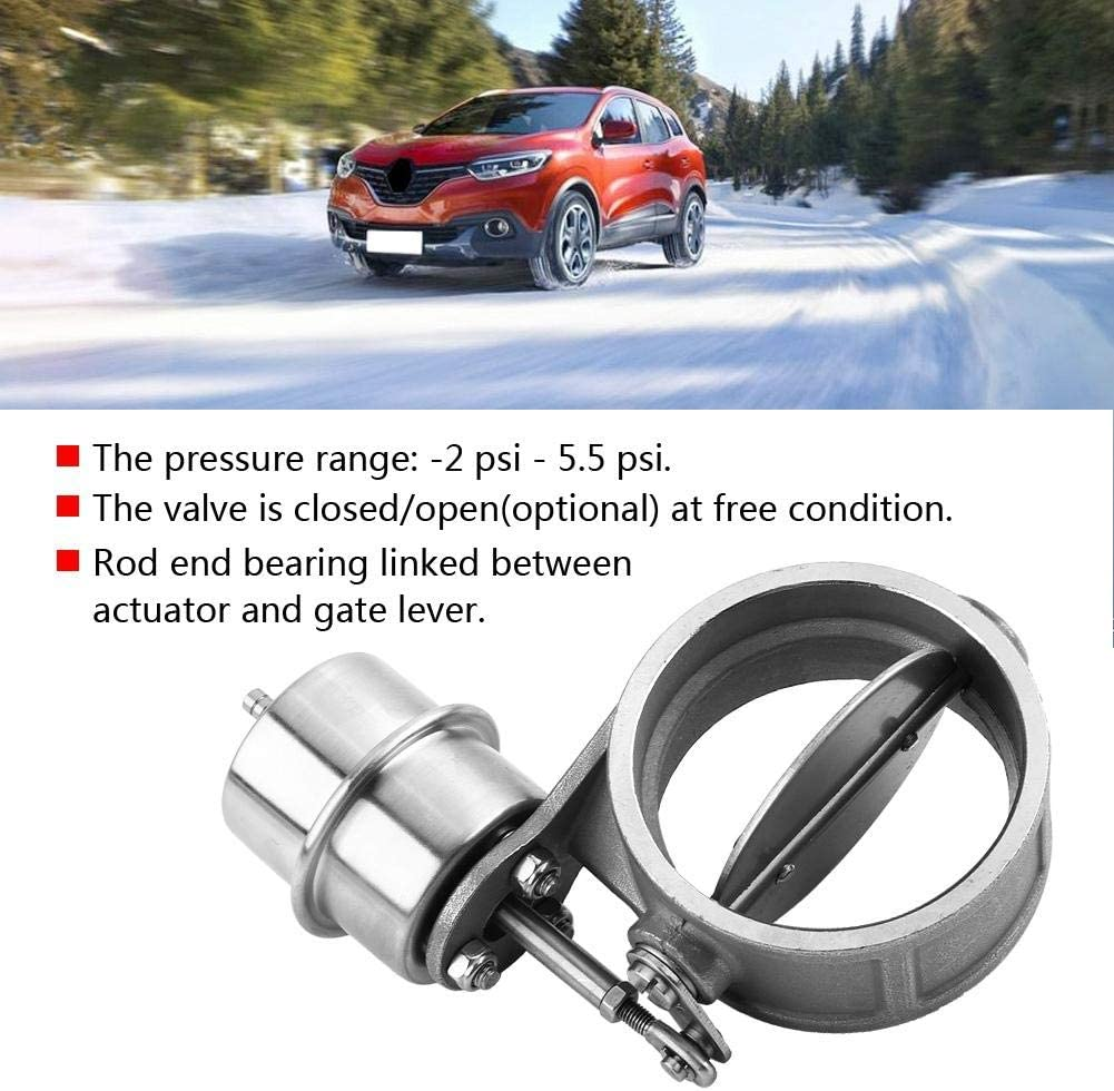 Cuque Car Exhaust Control Valve Boost Vacuum Stainless Steel Bypass Valve Universal Activated Boost Activated Exhaust Cutout Valve Exhaust Cutout//Dump 3inch Closed Style