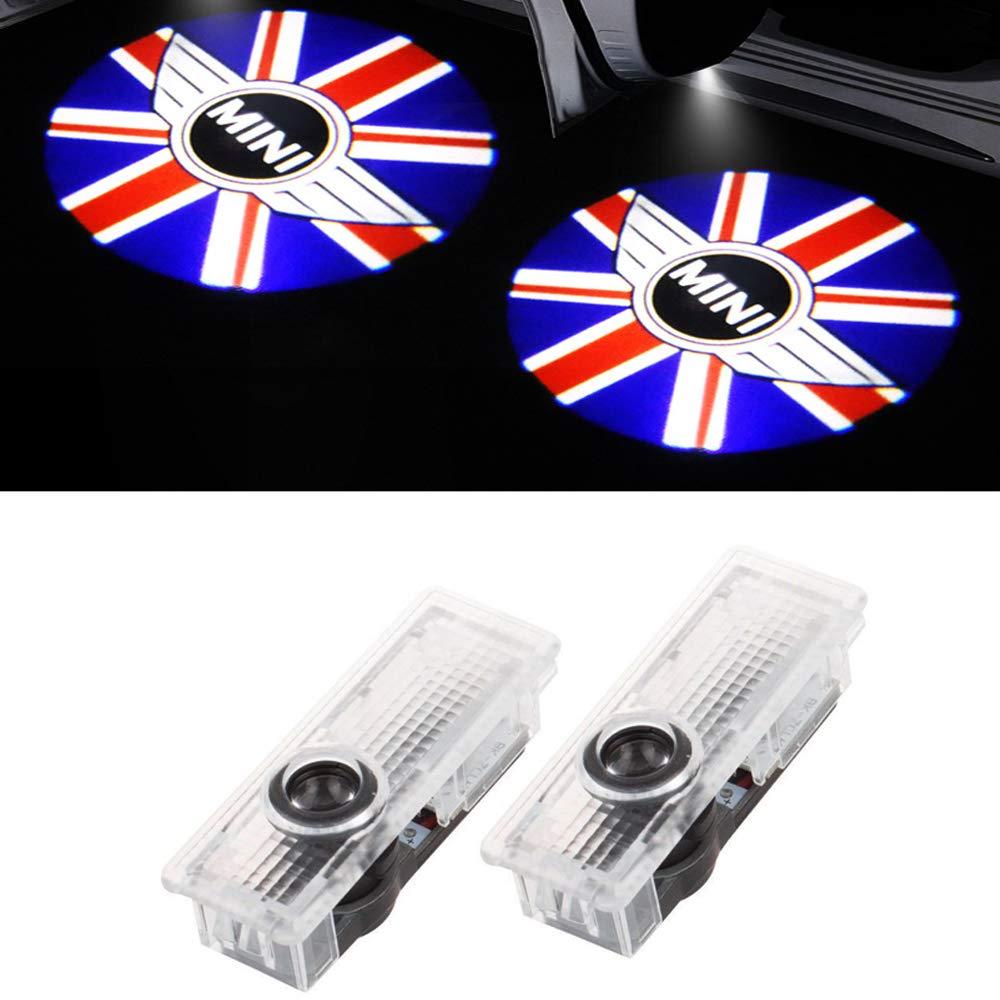 XIUJINGHONG 2 pcs lumi/ère de logo de voiture /Éclairage dentr/ée projecteur Logo