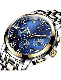 Men's Quartz Stainless Steel Watch, Color:Blue (Model: DS13)