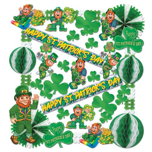 Beistle 33605 37-Piece St. Patrick Decorating Kit