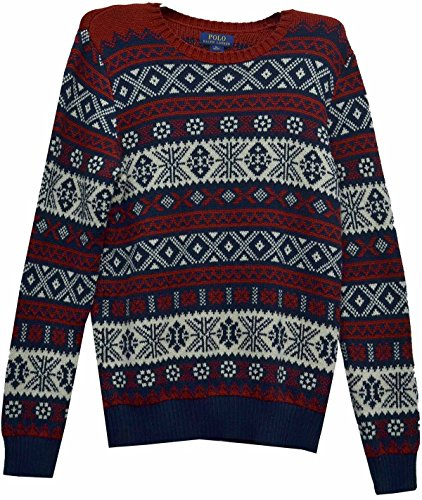 Polo Ralph Lauren Boy's Holiday Sweater Navy X-Large (18-20) by Polo Ralph Lauren