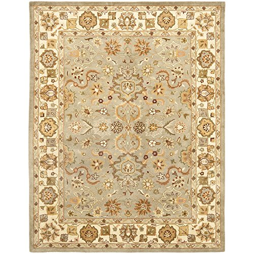 Safavieh Heritage Collection HG959A Handcrafted Traditional Oriental Light Green and Beige Wool Area Rug (11' x 17')
