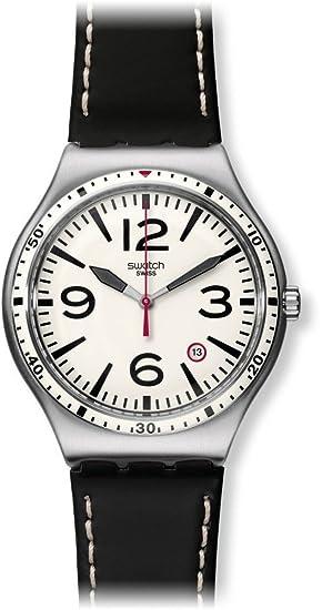 Swatch Reloj Análogo clásico para Unisex de Cuarzo con Correa en Acero Inoxidable YWS403C: Amazon.es: Relojes