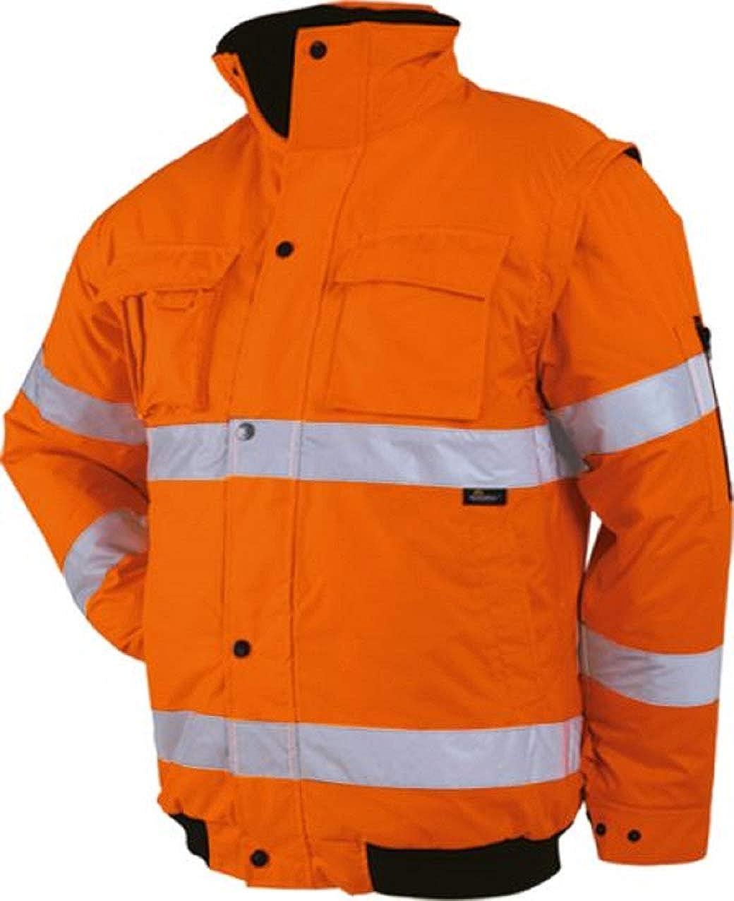 Vizwell-JK60 Warnschutz-Pilotenjacke 2in1 Warnschutzjacke 2in1 orange oder gelb Gr.S - 5XL