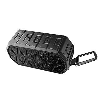 Altavoz Bluetooth Exterior, Altavoz Portátil Bluetooth con micrófono Incorporado, Altavoz Inalámbrico Bluetooth Impermeable IPX6