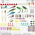 Lanforest Fishing Lures Kit, 234 PCS Artificial Bait Tackle Set Crankbait Minnow Topwater Frogs Hard Lures Jighead Spoonbait Shrimp Worms Hooks, for Bass Saltwater Freshwater from Lanforest