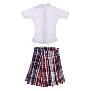sharprepublic 1/6 Camisa De Manga Corta Blanca con Mini ...