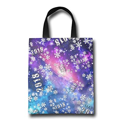 Silver Snowflakes Gift Unisex Lightweight Shopping Bags Market Bags