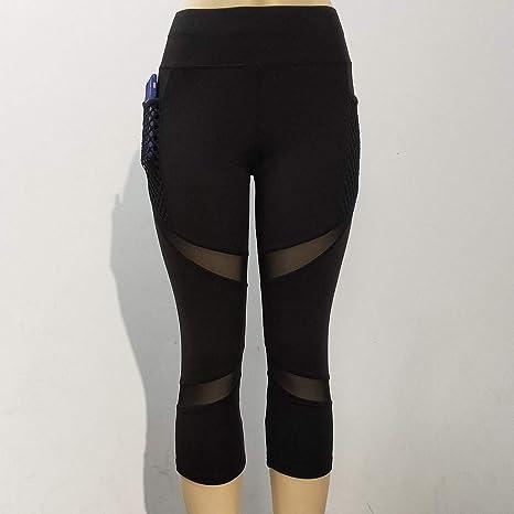 Nuevo!! Mallas Deportivas Mujer, Leggins Yoga Pantalon Elastico Cintura Altura Polainas para Running Pilates Fitness