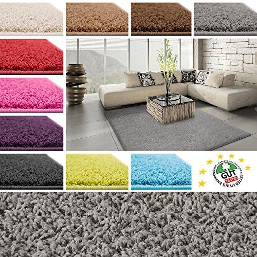 Floori Shaggy Hochflor Teppich - 133x190cm - grau/anthrazit