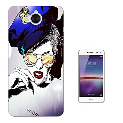 Amazon com: 002816 - Police Officer Fancy Dress Up Red Lips Huawei