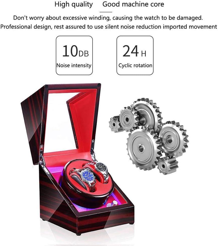 WZ Automatisch Uhrenbeweger, Mit LED-Licht 5 Rotationsmodi Leiser Motor Uhren Aufbewahrungsboxen - 9 Arten Erhältlich (Color : G) A
