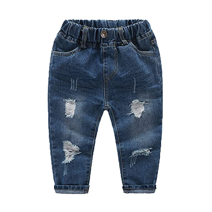 WanYang Pantalones Vaqueros para Niños 1-6 Años Denim Jeans ...