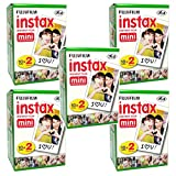 100 Prints Fujifilm Instax Mini Plain Film for Fuji 7s 8 25 50s 70 90 Instant Camera, Share SP-1