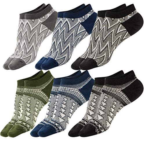 - M&Z Mens Ankle Low Cut Black Mesh Top Ventilation Deodorant Socks Comfy Cotton Casual Non-Slip Socks