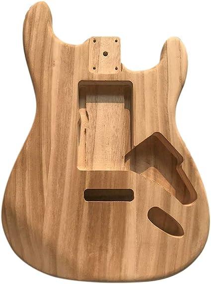 Cuerpo de guitarra eléctrica de madera pulida, cuerpo de madera de ...
